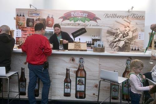 Marketing ist alles: Unser Böllberger Bier erstmalig mit einem Stand auf der Grünen Woche in Berlin.